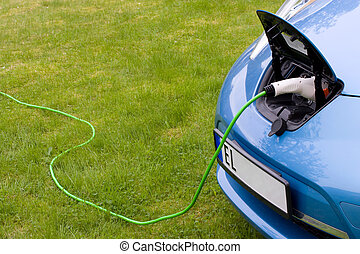 Charging electric car - Charging a modern electric car