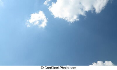 Skyscape. Clouds on blue sky. - Skyscape or cloudscape....