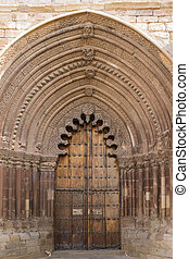 Door of San Román Church, Cirauqui. Navarre. Spain. XIII...
