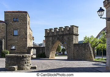 View of Obanos. Navarre. Spain. St. James Way.
