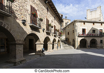 Cirauqui Square. Cirauqui, Navarre. Spain. St. James Way.