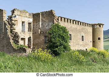 Gendulaacute;in Ruins St James Way Navarre, Spain -...