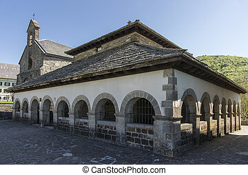 Sancti Spiritus Chapel in Roncesvalles Spain St James Way...