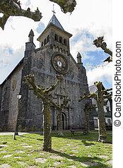San Nicolas de Bari Church. Burguete-Auritz. Navarre. Spain....