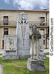 Pilgrim Statue. Santo Domingo de la Calzada, La Rioja....