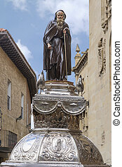 Statue of Santo Domingo de la Calzada, La Rioja. Spain.