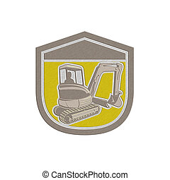 Metallic Mechanical Digger Excavator Shield Retro