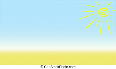 Summer Background Animation Loop - Loopable animated summer...