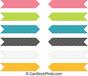 Colorful arrows set - Set of 6 isolated arrows (pointing...