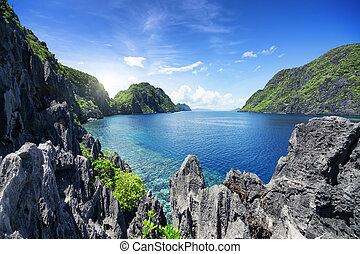El Nido, Palawan - The Philippines - Tapiutan Strait in...