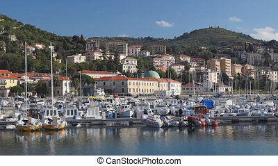 Imperia harbor - Panoramic view, Italy