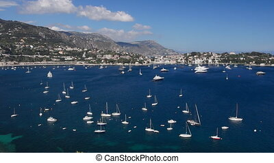 Italian harbor - Panoramic view, Liguria, Italy