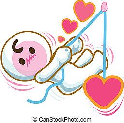 pull heart in love