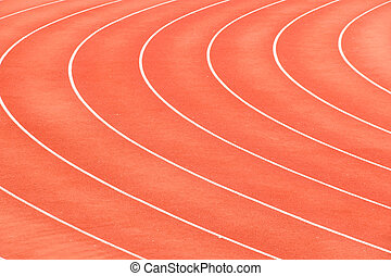 Racetrack in arena sport