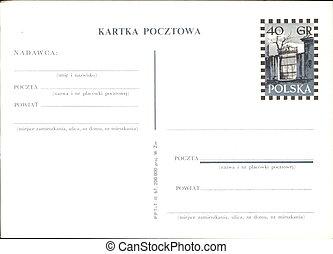Polish propaganda postcard - Poland, circa 1960s: Polish...