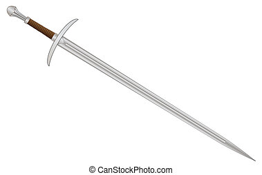 Knights Sword - A sword typical of a knight of old isolated...