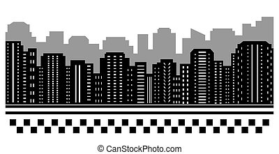 black urban background for taxi