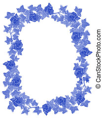 Ivy Border element deft blue - Ivy Image and illustration...