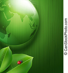 Green vector background on environmental issues