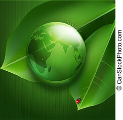 background on environmental issues - Green vector background...