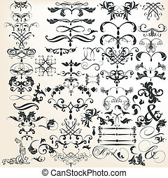 Collection of vector decorative cal - Vector set of...