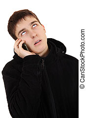 Annoyed Teenager with Cellphone - Annoyed Teenager in the...