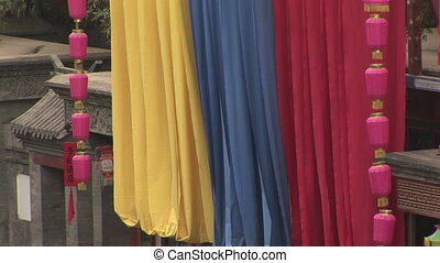 Colorful Banners and Lanterns - Bright banner and lanterns...
