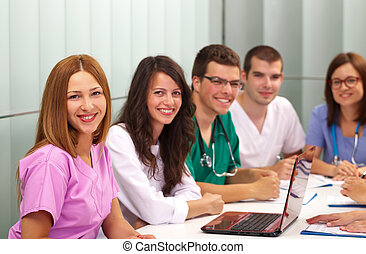Medical team - Picture of a medical team meeting in the...