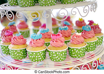 cupcakes tier - cute and colorful yummy cupcakes tier