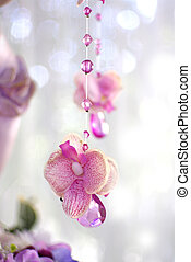 flowers and beads curtain decorative for wedding