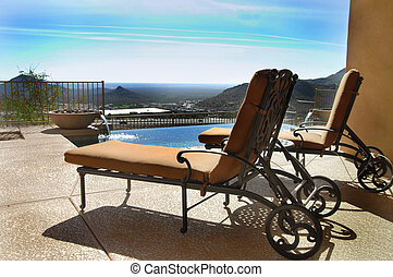 Summer paradise - Lounge chairs on patio