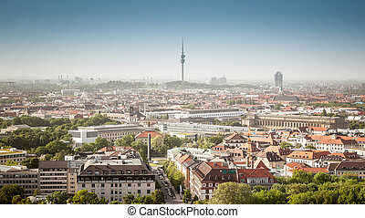 panorama Munich - A panoramic image of Munich in Bavaria...