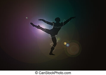 Male Dancer Over Flares