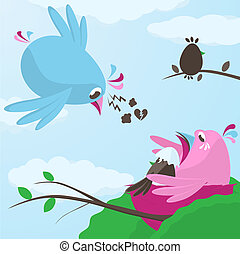 Infidelity and betrayal in love with a poor little blue bird...