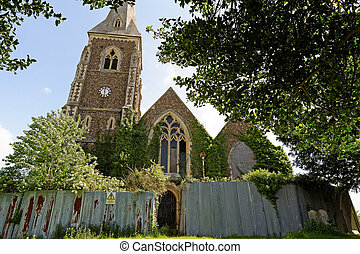 Derelict Church in the UK - A derelict, abandoned village...