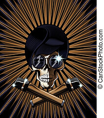 Pop star skull vector illustration - Pop star skull vector...