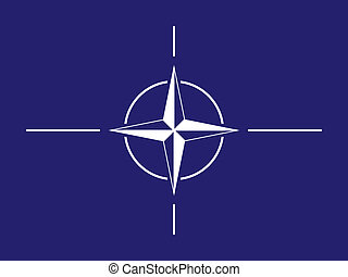 NATO flag - Flag of North Atlantic Treaty Organization.