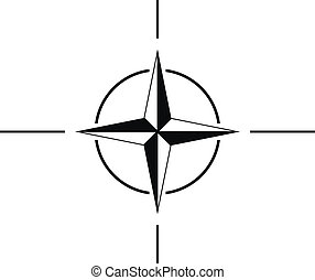 NATO sign icon - North Atlantic Treaty Organization sign...