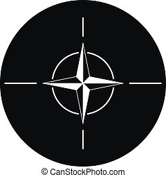 NATO icon - North Atlantic Treaty Organization icon.