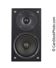 The speaker - The black speaker isolated on white...