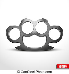 Metal Brassknuckles vector illustration - Metal...