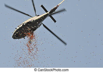helicopter at World cup football