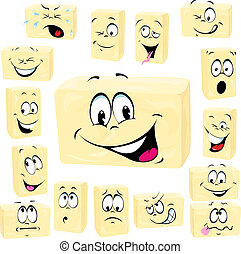 butter cartoon butter cartoon - butter cartoon isolated on...