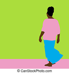 Flowing Skirt Woman - An image of a woman with a flowing...