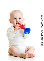 bebé, juguete, juego,  musical