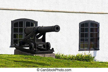 Cannon in Karlskrona - The black cannon in Karlskrona