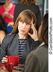 Annoyed Woman on Break