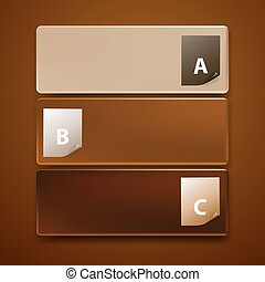 Three frames. Infographics chocolate template design 2