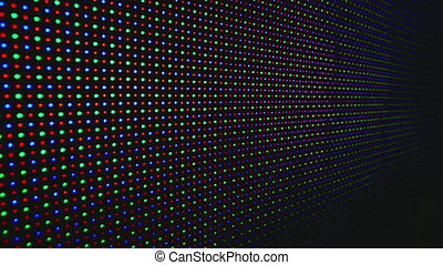 Led display close up LED show - Colors and shapes on the LED...