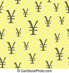 Yuan, Yen vector seamless pattern